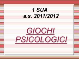 Psicologia – Giochi psicologici