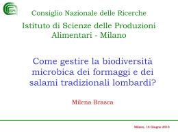 Come gestire la biodiversità microbica dei formaggi e