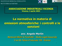 St. Merlin - Emissioni atmosferiche - controlli e sanzioni