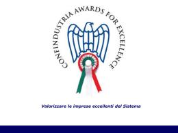 Presentazione Awards - Federconfidi