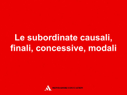22_subordinate - Mondadori Education