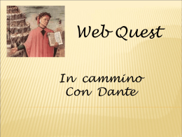 Webquest Divina Commedia