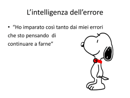 L`intelligenza dell`errore