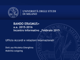 Slide incontri informativi Programma Erasmus+ 15-16