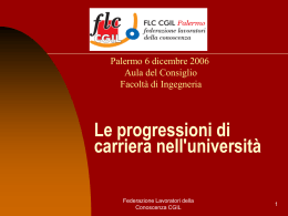 Le progressioni di carriera nelle Università