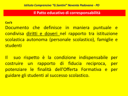 Patto educativo - IC Santini di Noventa Padovana