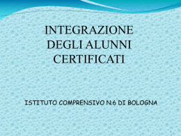 power point integrazione scolastica