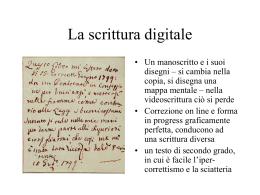 La scrittura digitale