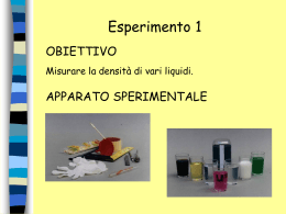 Esperimento 1 - Liceo Scientifico G. Marinelli