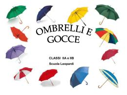 Ombrelli e Gocce