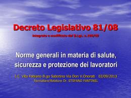 Corso aggiornamento 02.09.2013 D.Lgs.81_08