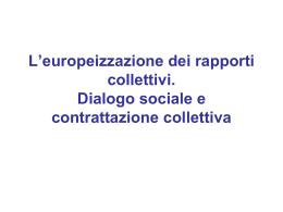 Relazioni sindacali e contrattazione