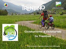 Ricerca `Cicloturismo e cicloturisti in Trentino`