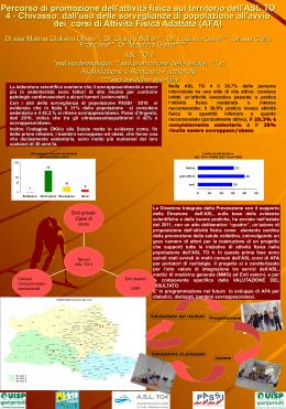 Percorso di promozione dell`attività fisica sul territorio dell`ASL TO 4