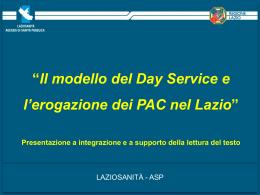 Slides - Agenzia di Sanità Pubblica della Regione Lazio