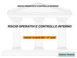 at rischi operativi e controllo interno