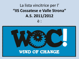 """IIS Cossatese e Valle Strona"" AS 2011/2012"