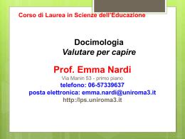 docimologia1_16 - Laboratorio di Pedagogia sperimentale