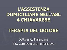Terapia del dolore - ASL n. 4 Chiavarese
