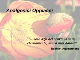 Analgesici Oppiacei