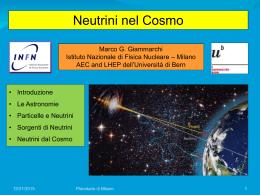 Neutrini dal Cosmo
