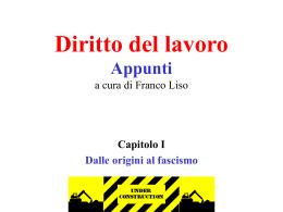 dalle origini al fascismo