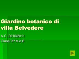 Giardino botanico di villa Belvedere