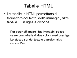 Tabelle HTML