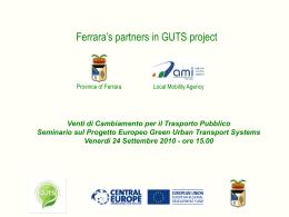 GUTS project - Provincia di Ferrara
