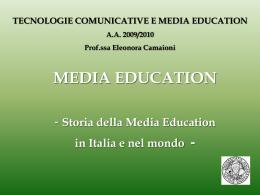 Storia della Media Education - alfabetico dei docenti 2009