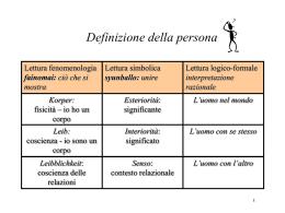 3. Definizione e struttura fondante della persona, i principi etici