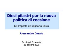 Rapporto Barca Le proposte (2009)