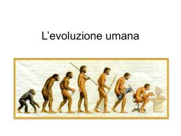 L`evoluzione umana giuseppe michele