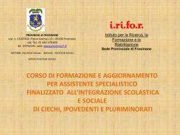 Programma Corso - Unione Italiana Ciechi di Frosinone