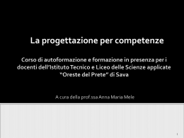 Scarica il documento in formato PowerPoint.