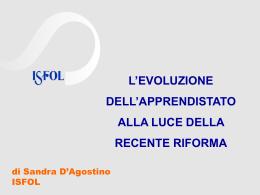 Apprendistato_Forum PA_2012 Sandra D`Agostino