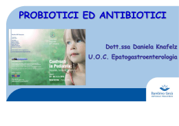 Probiotici ed antibiotici