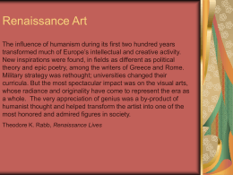Renaissance Art PowerPoint - Livingston Public Schools