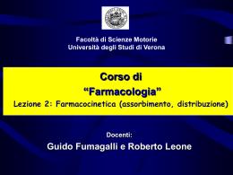 Lezione 2 (Farmacocinetica) - Scienze Neurologiche e del Movimento