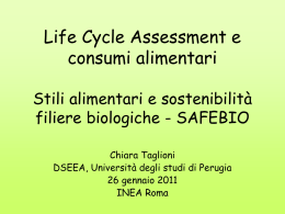 Life Cycle Assessment e consumi alimentari