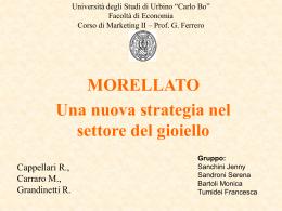 morellato - Università di Urbino - Università degli Studi di Urbino