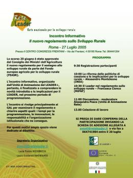 Scheda di Adesione - Euromed Carrefour Sicilia