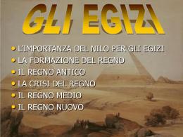 Gli Egizi. Cirasola, Grilli, la Torre I C