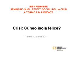 Crisi: Cuneo isola felice?