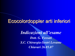 Ecocolordoppler arti inferiori