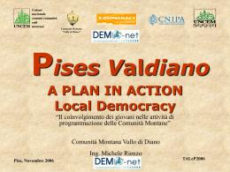 Il progetto Pises Valdiano: Piano Interattivo di Sviluppo Socio