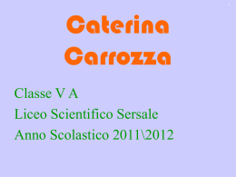 Sostanze d`abuso - Caterina Carrozza - 5B