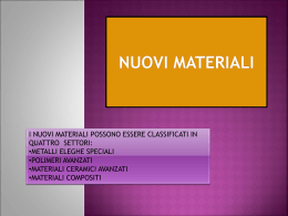 NUOVI MATERIALI ppt.