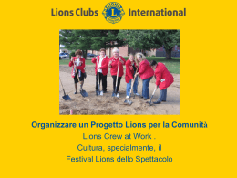 progetto Crew at Work - Lions Clubs International