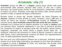 Slides su Aristotele